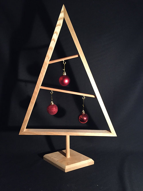 Sapin design boules rouges