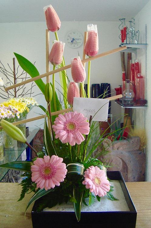 Tulipanes y Gerberas