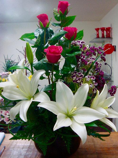 Rosas y lilis
