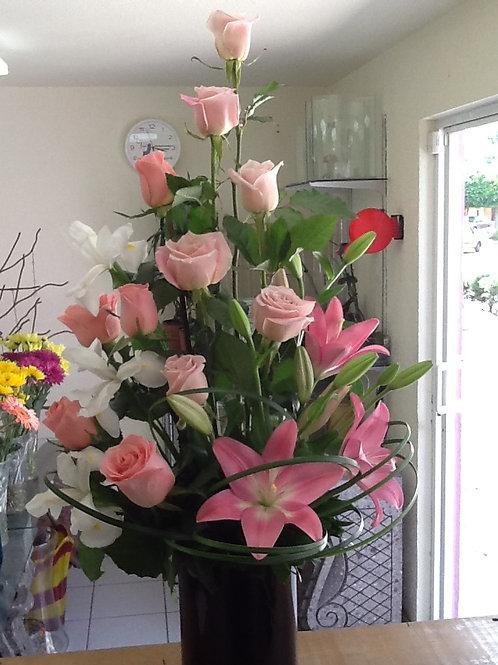 Rosas e iris
