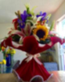 Ramos en Crepé Italiano, entrega de flores en Querétaro