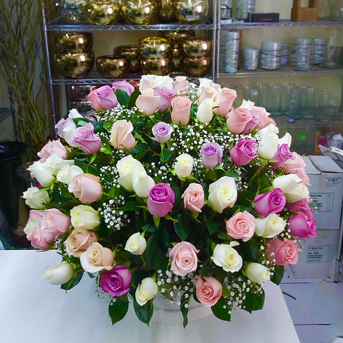 120 rosas pastel