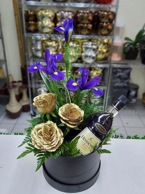 Flores doradas y cognac
