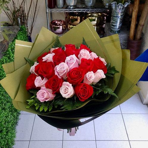 Rosas en kraft