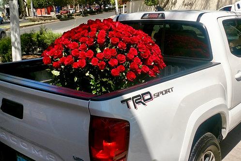 275 rosas en canasta