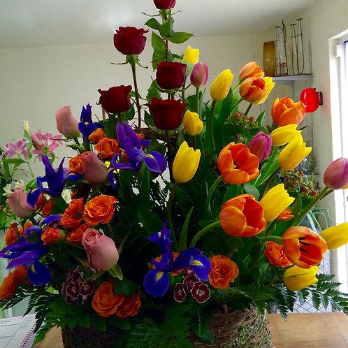 Canasta multicolor