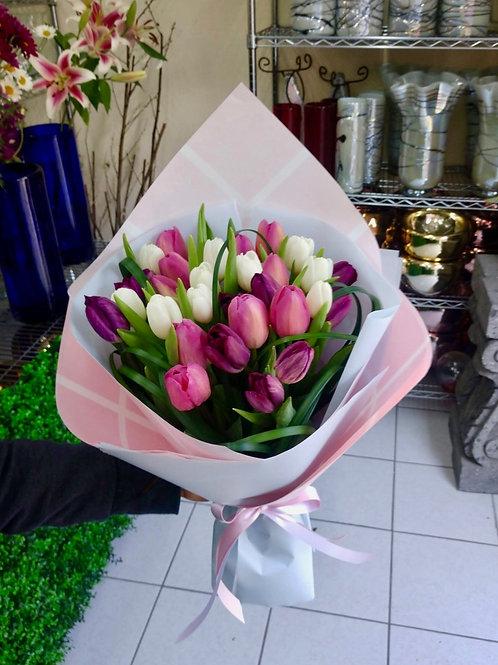 Tulipanes en kraft
