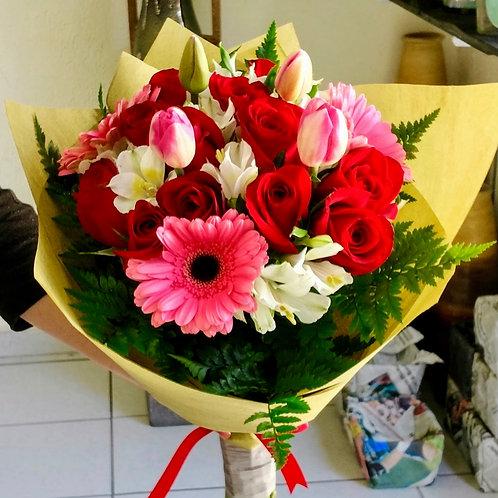 Bouquet en papel coreano