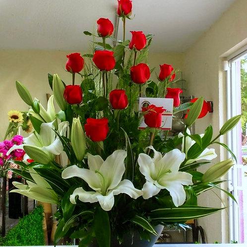 Rosas y orientales.