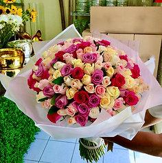 Ramo de rosas pastel