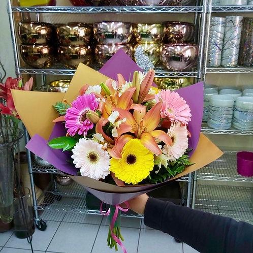 Gerberas y lilies