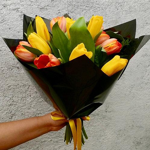Tulipanes en ramo
