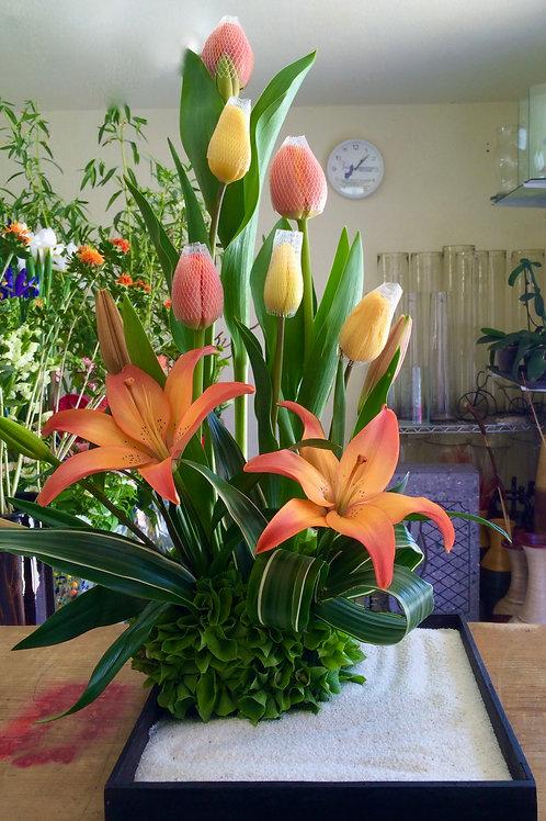 Zen de tulipanes con lilis.