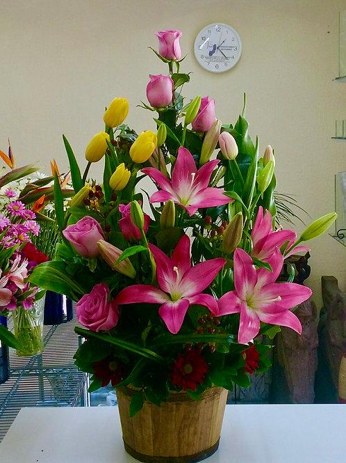 Tulipanes, rosas y asiáticos.