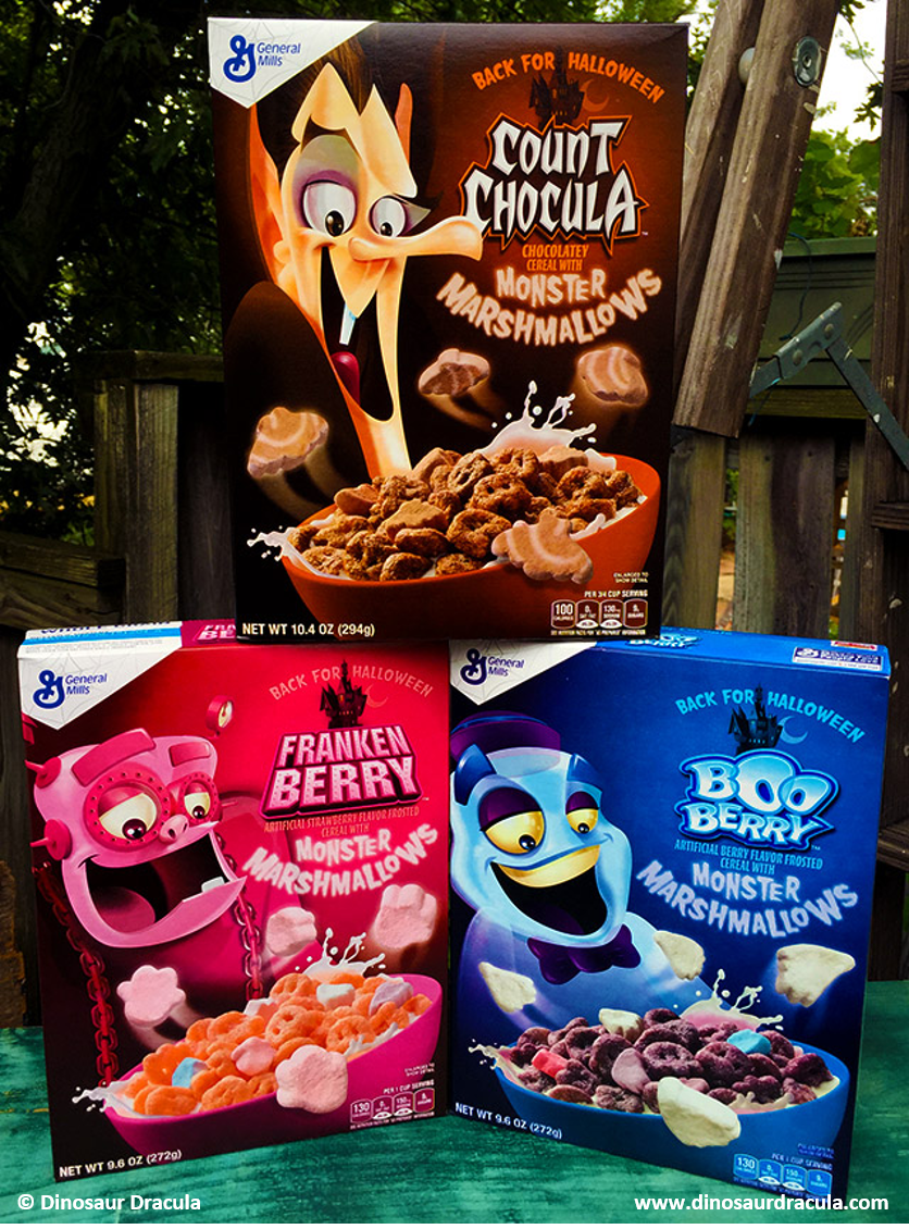 NEWS | General Mills Monster Cereal Returns. Dinosaur Dracula gets first scoop (Hehe, get it?)