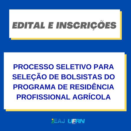 Seleção de bolsistas para Programa de Residência Profissional Agrícola