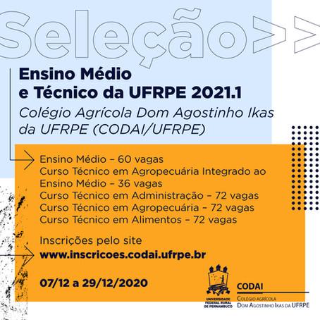 Vagas para Ensino Médio e Técnico em Pernambuco
