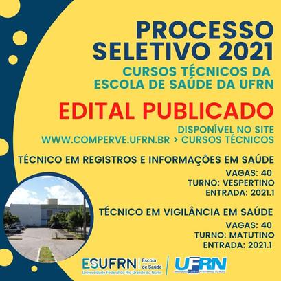 Publicado edital para ingresso em cursos técnicos da Escola de Saúde da UFRN