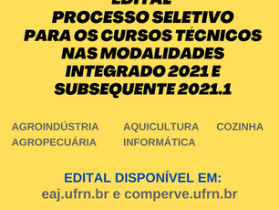 Abertas as inscrições para cursos técnicos na UFRN