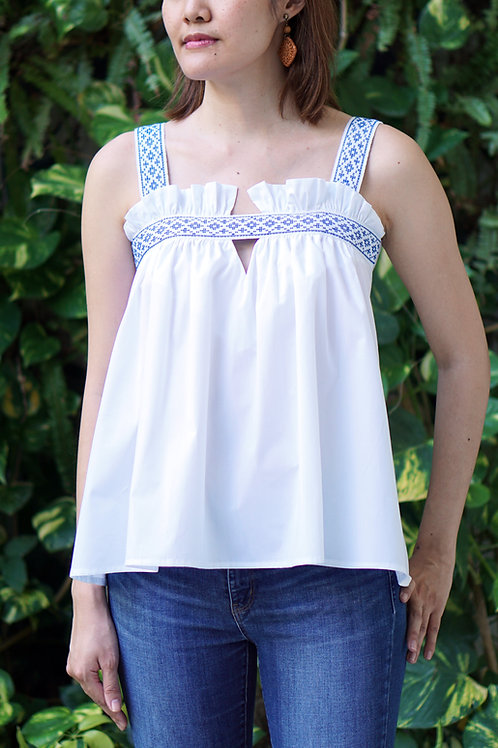 INES TOP WITH LANGKIT TRIM