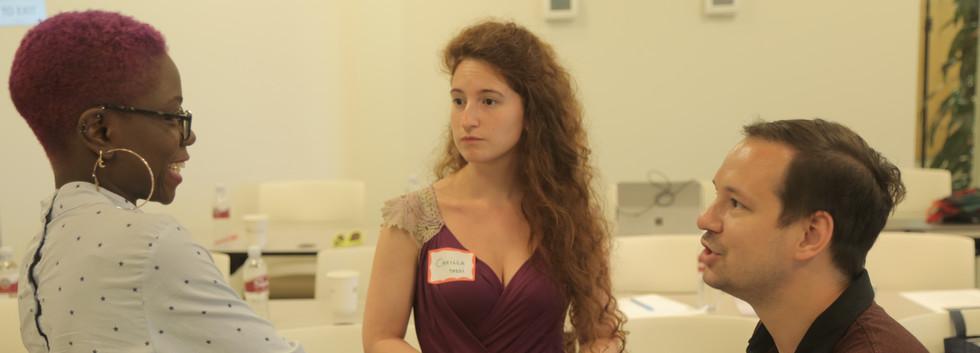 Sadah Espii Proctor (L) Camilla Tassi (M