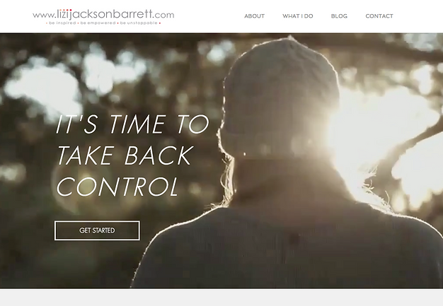 Lizi Jackson Barrett website homepage by