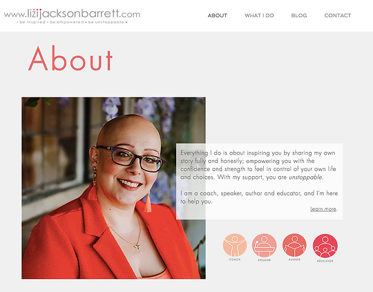 Lizi Jackson Barrett website About page