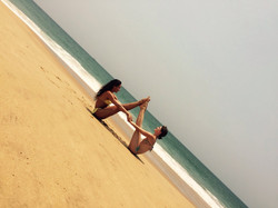 Jóga na pláži