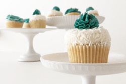Teal-accented Cupcakes