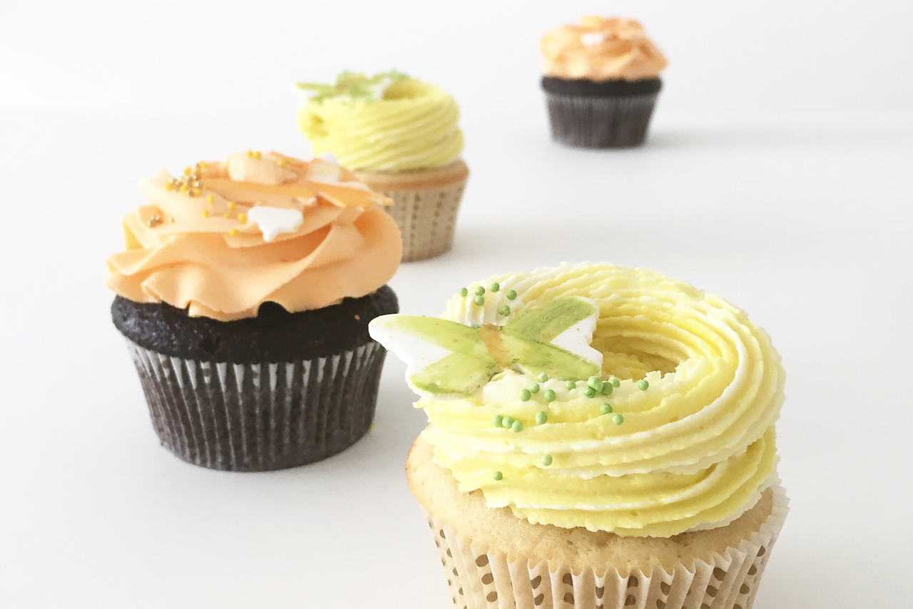 Bright Butterfly Cupcakes