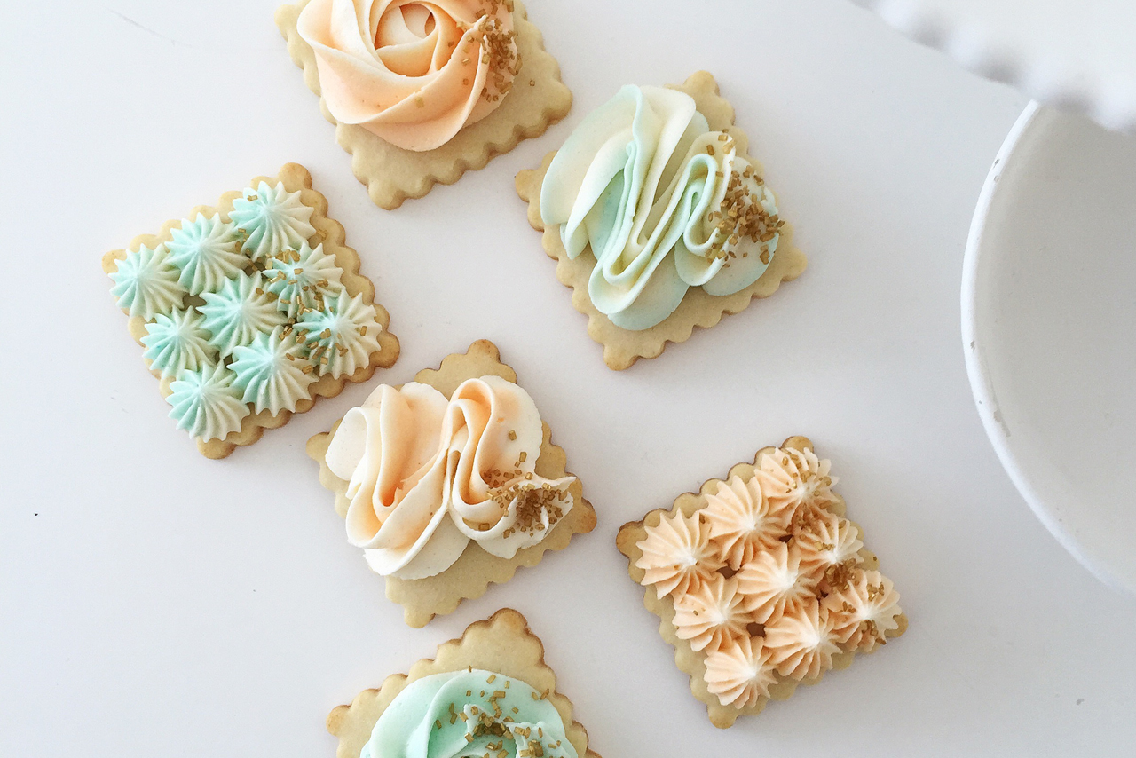 Sugar Cookies with Buttercream