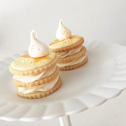 Luscious lemon shortbread stacks