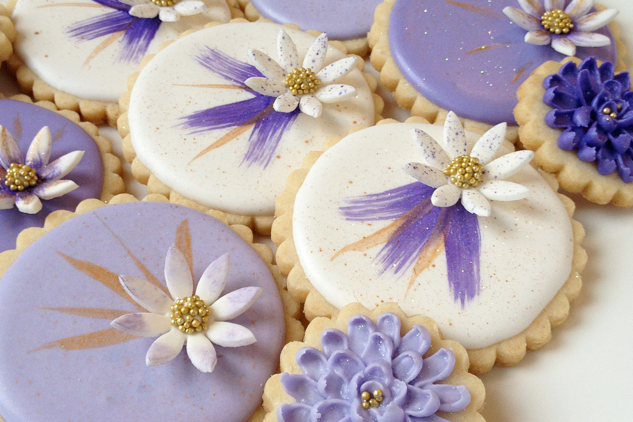 Lovely Lavender Floral Cookies