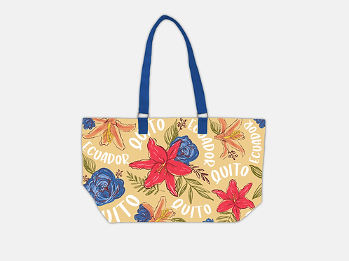 Flower Tote Bag I Yellow Quito