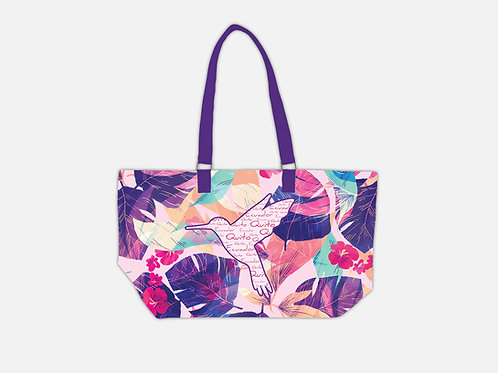 Pattern Tote Bag I Hummingbird
