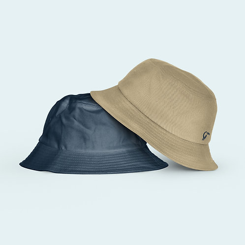 Adult Reversible Hat I Khaki & Navy