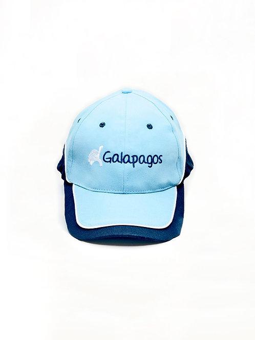 Three Colored Cap I Light Blue & Navy I Tortoise