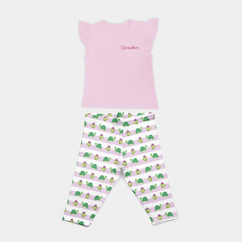 Blouse & Pattern Trousers I Tortoise