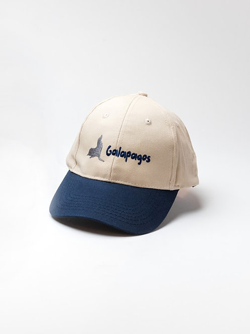 Two Colored Cap I Khaki & Navy I Sea Lion
