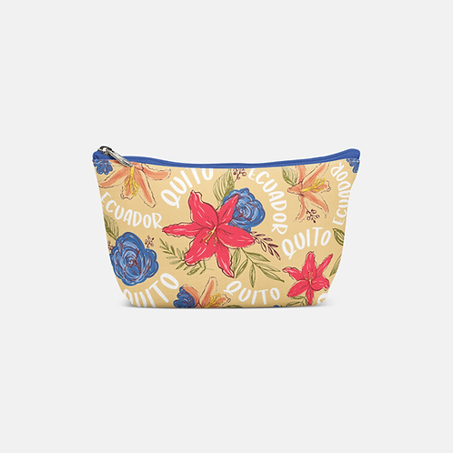 Flower Pouch Bag I Yellow Quito