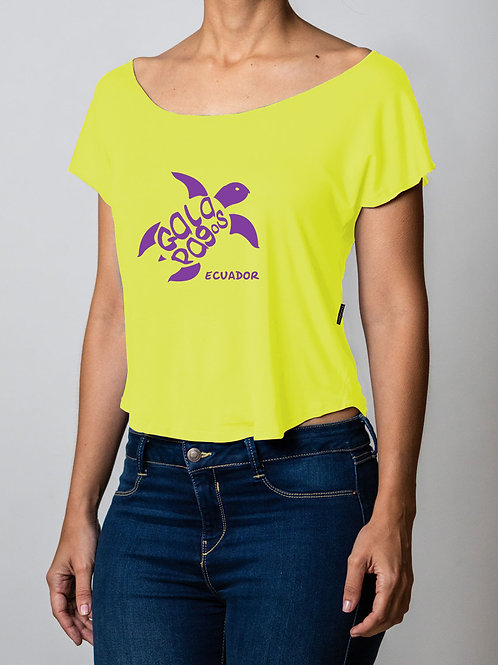Neon Round Neck I Yellow I Sea Turtle