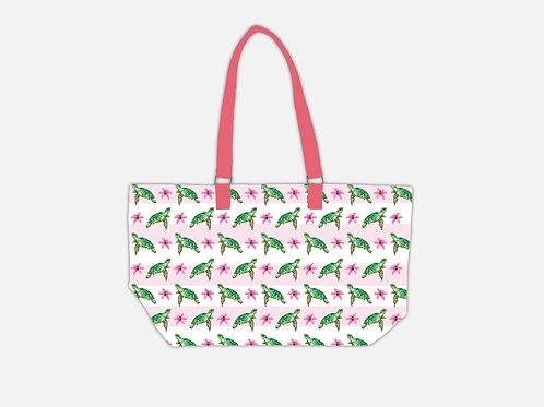 Line Tote Bag I Sea Turtle