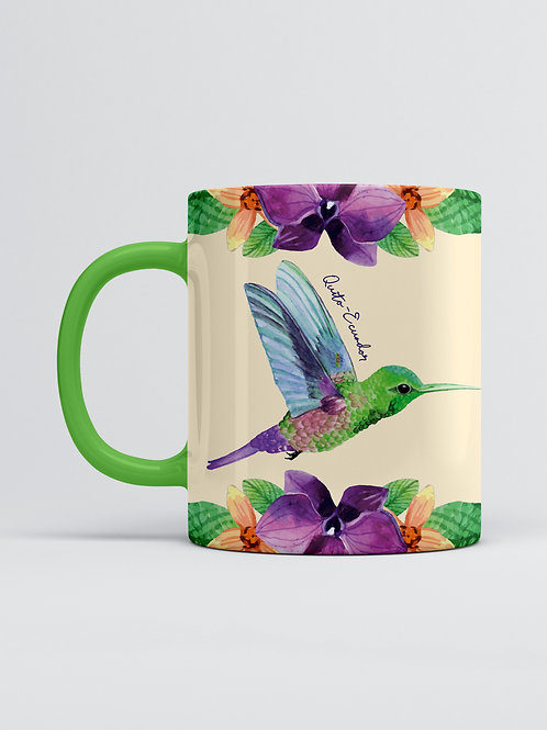 Flower & Wildlife Mug I Hummingbird