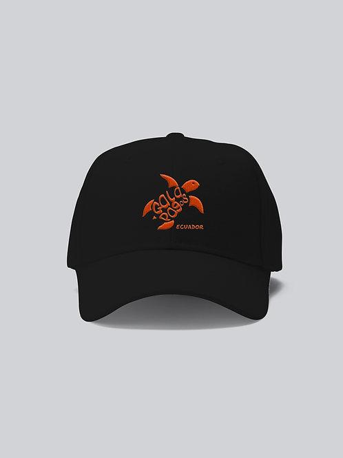 One Colored Cap I Black I Orange Logo I Sea Turtle