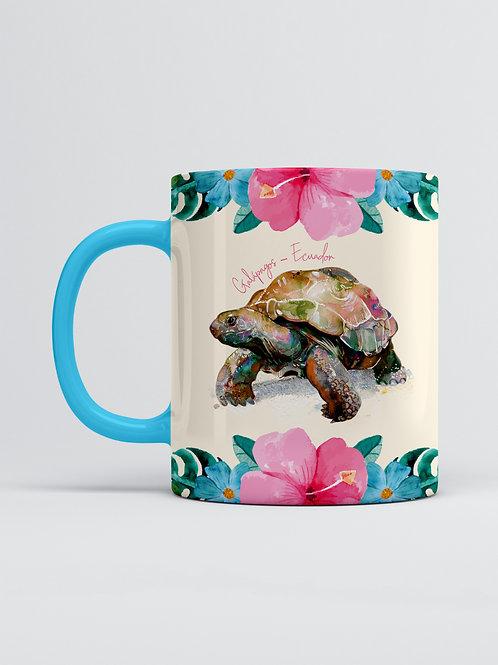 Flower & Wildlife Mug I Tortoise