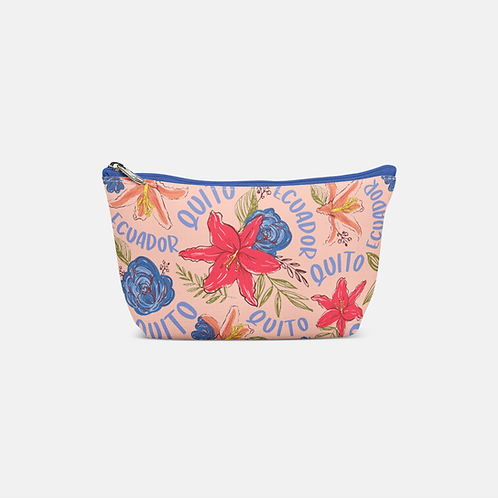 Flower Pouch Bag I Pink Quito