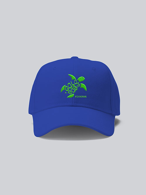 One Colored Cap I Blue I Green Logo I Sea Turtle