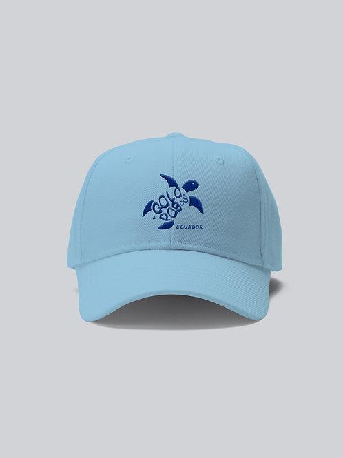 One Colored Cap I Light Blue I Blue Logo I Sea Turtle