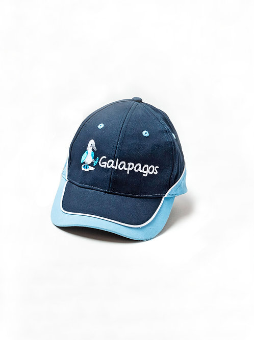 Three Colored Cap I Navy & Light Blue I Bluefoot Booby