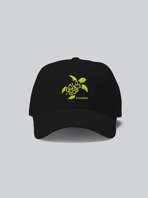 One Colored Cap I Black I Yellow Logo I Sea Turtle